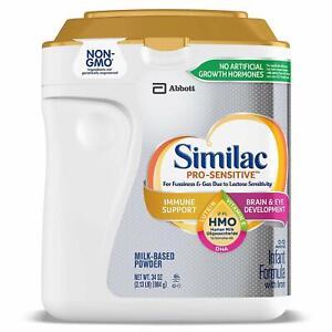 Similac Abbott Pro-Sensitive HMO Infant Formula Powder wit Iron with 2'-FL 34 oz