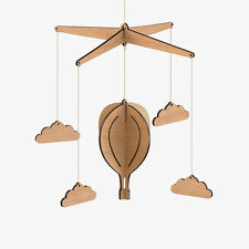 Byrne Woodware Wood Australian Hot Air Balloon Modern Baby Mobile—FREE SHIPPING