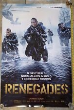 AUTHENTIC RENEGADES 2017 SIDED UNUSED ORIGINAL Theater 27x40 Movie Poster