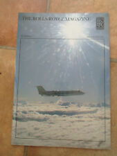 Rare Illustrated The Rolls Royce Magazine (Aeroplanes) December 1985  Number 27