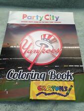NEW YORK YANKEES NY COLORING BOOK PARTY CITY W/CRAYONS SGA 2016 YANKEE STADIUM