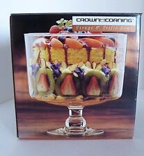 Crown Corning Glass Virage 8 inch Trufle Bowl 1992. New in Box