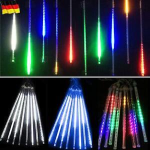 LED Meteorschauer Regentropfen Lichterkette Eiszapfen Außen Weihnachts Partydeko