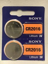 2 FRESH SONY CR2016 Lithium Battery 3V Exp 2027 Coin Cell Battery USA Seller