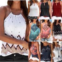 Women Summer Beach Vest Top Sleeveless Blouse Casual Tank Loose Tops T-Shirt