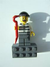 Lego City, Robber with Crowbar magnet (glued)