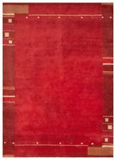Tapis rouge à motif Rayé indiens pour la maison