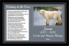 "Personalised Pet Dog Photo Memorial Gift Mounted Verse 9"" x 6"" Print - unframed"