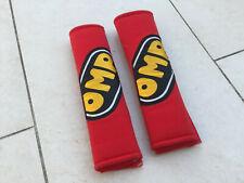 OMP Car Safety Seat Belt Shoulder Pads Cover Protector Red