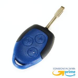 Guscio chiave con lama cover COMPATIBILE per Ford Transit Cover Telecomando Blu