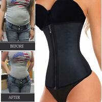 Fajas Colombianas Zip Latex Rubber Waist Trainer Weight Loss Slim Corset Shaper