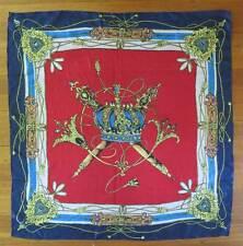 "Vintage Crown Jewels Scarf 32"" red white blue"