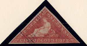 Cape of Good Hope: Scott #1, Used, Wmk 15, bluish paper, 3 margin, light cancel