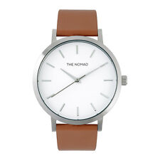 The Nomad Watch Unisex Leather Watch TAN BROWN