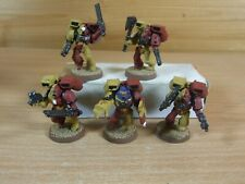 5 PLASTIC WARHAMMER ASSAULT MARINES PAINTED (4168)