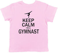 Keep Calm I'm A Gymnast Childrens Kids Gymnastics Girls Boys Tee T-Shirt
