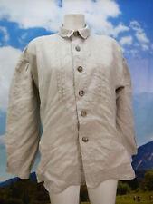 Gr.M Trachtenhemd Country Line Leinen beige rustikal Trachten Hemd TH1605