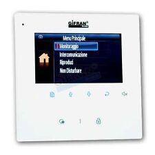 Monitor videocitofono 4 pollici bianco collegamento 2 fili videocitofoni GSM