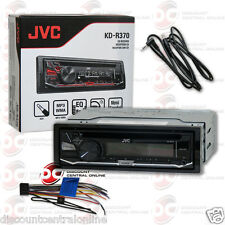 JVC KD-R370 1-DIN CAR STEREO CD MP3 RECEIVER WITH AUX-IN FREE 3.5mm AUX CABLE