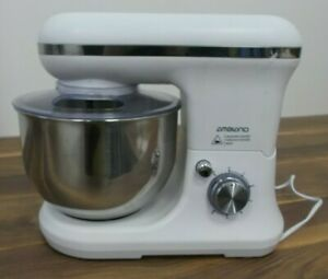 Ambiano White 800W Classic Stand Mixer Beater Whisk Dough Hook Guard Working