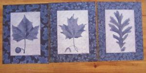 Oak Leaf, Maple Leaf, Sycamore Leaf Prints Signed Susan Clickner 1998 set of 3