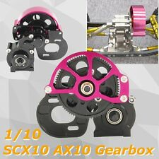 CNC Steel Transmission Gearbox Set for 1/10 Axial SCX10 AX10 RC Cars Crawler