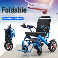 Folding Lightweight Electric Power Wheelchair Mobility Aid Motorized 2 Types *