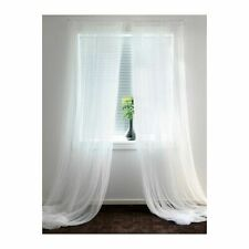 IKEA LILL Brand New Pair of Long Sheer Floaty White Net Curtains 280 x 250cm