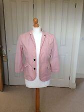 Jack Wills Ladies Cotton Jacket Red And White Stripe Size 10