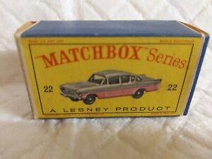 MATCHBOX 1-75  REGULAR CRESTA NO22 ORIGINAL BOX ONLY
