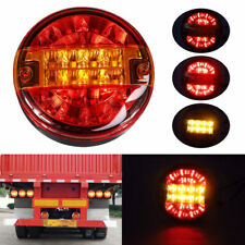 "1x 5.5"" Round Stop Turn Signal Tail Brake LED Light Truck Trailer RV Bus 12V 24V"