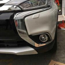 For Mitsubishi Outlander 2016-2018 ABS Chrome Front Fog Light Lamp Cover Trim