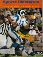 1967 PACKERS Willie Davis signed Sports Illustrated magazine JSA COA AUTO SI