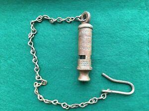 Rare J.Hudson Metropolitan Bucks Special Constabulary Police Whistle & Chain