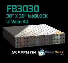 CertiFlat FB3030 2.5'X2.5' FabBlock DIY Modular Welding Table Top Kit Heavy-Duty