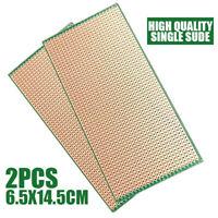 2Pcs Single-side Prototype PCB Circuit Board Veroboard Stripboard DIY 6.5x14.5cm