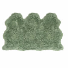 Lambland Extra Large Triple Genuine Sheepskin Rug UK Made Sage Green