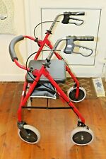 ROMA 2463 Folding Rollator 4 Wheel Walker Mobility Walking Zimmer Frame & Seat