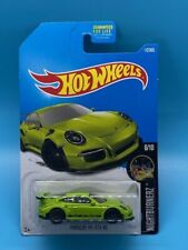 Hot Wheels 2016 10/10 Nightburnerz Porsche 911 Gt3 Rs Green