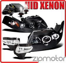 99-04 FORD MUSTANG HALO BLACK PROJECTOR HEAD LIGHT+BUMPER DRIVING FOG+6K HID KIT