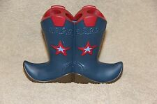 Cowboy Western Boot Toothbrush holder Blue & Red