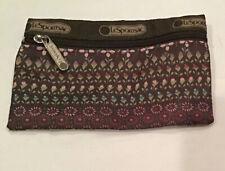 LeSportsac Brown Floral Cosmetic Bag