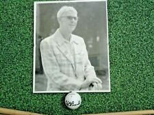 Very rare Henry Picard personal irons and signed ball & photo