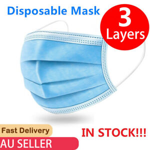 10 X Disposable Face Mask Anti Flu Dust 3 Layer Mouth Masks Protective AU STOCK