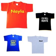 Kinder T-Shirt mit Namen oder Text ihrer Wahl Baby Shirt Sprüche Namen