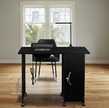 New Vented Salon Manicure Nail Table Desk Steel Frame Lockable W/ LED Light US