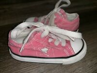 CONVERSE ONE STAR ~ Toddler Kids Pink Shoes Low Top Chuck Taylor Girl's ~ 5 (a)