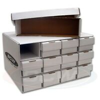1 Stackable Cardboard Sports Card House with 12 800 Count, 2-Piece Storage Boxes