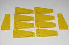 Lego Lot of 10 New Yellow Technic Panels Plates 5 x 11 x 1 Tapered Parts