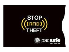 Pacsafe RFIDsleeve 25 RFID Blocking Credit Card Sleeve X2 for Safe in Black